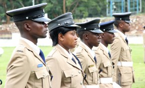 Officers on parade during the 2017 Police Day at the Lusaka showgrounds on March 4 - Picture by Joseph Mwenda