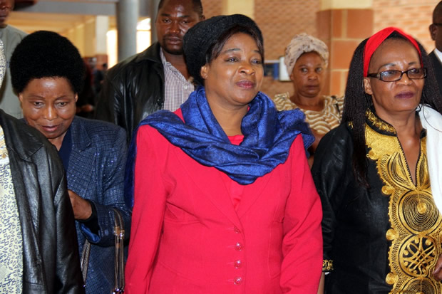 UPND leader Hakainde Hichilema's wife Mutinta at Magistrates Court in Lusaka-picture by Tenson Mkhala