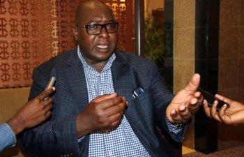 Kantanshi MP Anthony Mumba speaks to journalist in Lusaka-picture by Tenson Mkhala