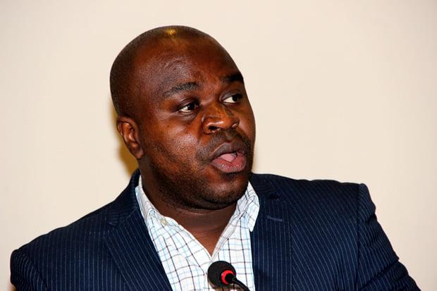 SACCORD Executive Director Boniface Cheembe during press briefing at Lusaka's Pamodzi Hotel-picture by Tenson Mkhala