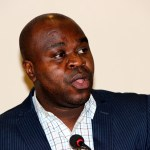 SACCORD Executive Director Boniface Cheembe during a press briefing at Lusaka's Pamodzi Hotel-picture by Tenson Mkhala