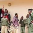 UPND leader Hakainde Hichilema being taken back to Lusaka Central Prison-picture by Tenson Mkhala