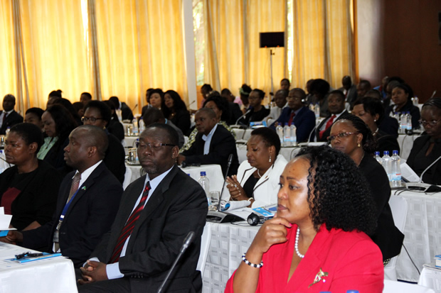 Delegates at the official opening of the publicity seminar for Zambia by the COMESA court of Justice at Mulungushi International Conference Center in Lusaka-picture by Tenson Mkhala