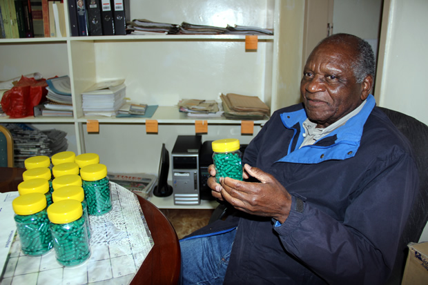Forum for Democractical Alternative leader Dr Ludwig Sondashi at his office-picture by Tenson Mkhala