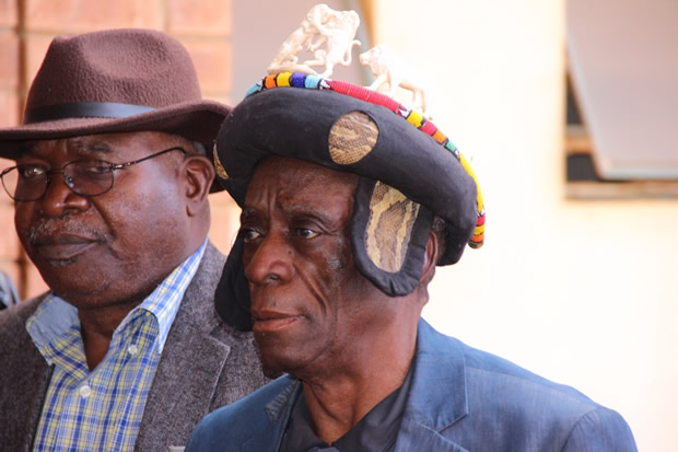 Chief Mukuni at the Lusaka magistrate's court where he followed proceedings of the HH treason case