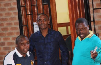 Chilanga MP Keith Mukata at Lusaka's Magistrate Court -Picture by Tenson Mkhala