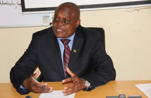 Ministry of Health spokesperson Kennedy Malama speaks to journalist at his office in Lusaka Picture by Tenson Mkhala