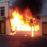 Generic image of shop on fire