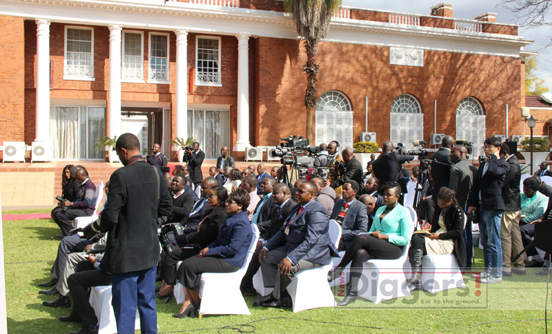 Journalists at State House