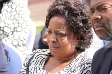 Labour minister Joyce Ninde Simukoko at State House on July 6, 2017 - Picture by Joseph Mwenda