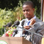 President Edgar Lungu speaks to journalists during a press conference at State House on July 6, 2017 - Picture by Joseph Mwenda
