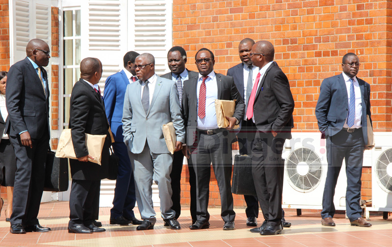 Ministers after Cabinet meeting