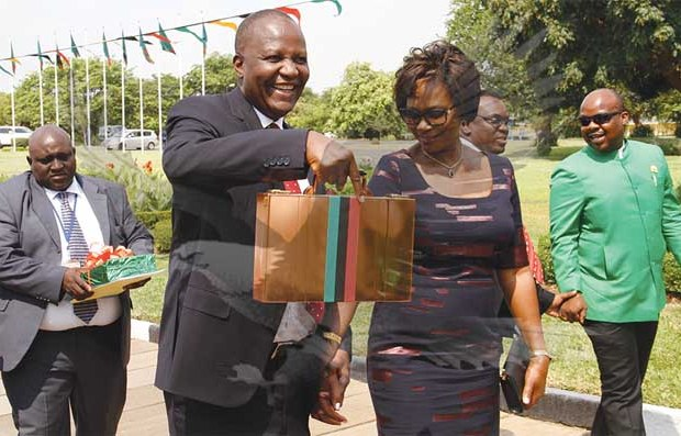 mutati before he presented the 2017 budget picture courtesy of zambia daily mail