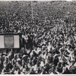 A public gathering after independence