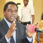 United Party for National Devlopment (UPND) leader Hakainde Hichilema addresses journalists at his house in Lusaka on November 3, 2017 - Picture by Tenson Mkhala