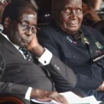 Dr Kenneth Kaunda with President Robert Mugabe