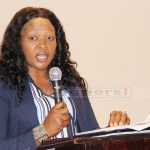 Financial Intelligence Centre (FIC) Director General Mary Tshuma speaks during its 2rd annual anti-money laundering conference at Sandy's creation lodge along Kafue road in Lusaka on December 14, 2017 - Picture by Tenson Mkhala