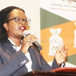 Law Association of Zambia (LAZ) president Linda Kasonde speaks during Financial Intelligence Centre (FIC) 2rd annual anti-money laundering conference at Sandy's creation lodge along Kafue road in Lusaka on December 14, 2017 - Picture by Tenson Mkhala
