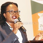 Former Law Association of Zambia (LAZ) president Linda Kasonde speaks during Financial Intelligence Centre (FIC) 2rd annual anti-money laundering conference at Sandy's creation lodge along Kafue road in Lusaka on December 14, 2017 - Picture by Tenson Mkhala