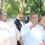 National Democratic Congress (NDC) leader Chishimba Kambwili and secretary general Mwenya Musenge in Mazabuka during their consultative meeting on December 18, 2017 - Picture by Tenson Mkhala