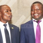 Chipili MP Jewis Chabi (l) with Moomba UPND MP Fred Chaatila in Parliament on September 18, 2018 – Picture by Tenson Mkhala