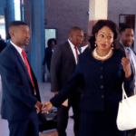 Magistrate Maggie Tantameni at the Lusaka Magistrates' Court on October 10, 2018