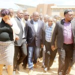 Housing and Infrastructure Development Minister Ronald Chitotela with his supporters  leave Lusaka Magistrates Court shortly after attending a Court case on March 21, 2019 - Picture by Tenson Mkhala