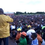 NDC leader Chishimba Kambwili campaigns for his Roan candidate Joseph Chishala on March 24, 2019