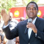 UPND president Hakainde Hichilema addresses journalists during a press conference at the party secretariat on April 4, 2019 - Picture by Tenson Mkhala