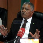 Justice Minister Given Lubinda addresses journalists during a press briefing at his office in Lusaka on January 21, 2020 - Picture by Tenson Mkhala