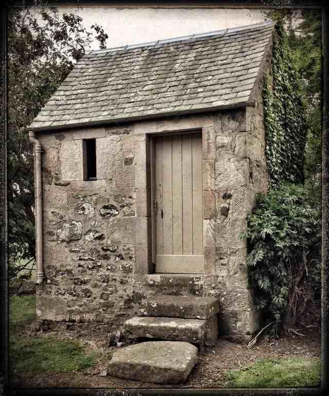 The steps leading up to Symington Watch House, South Lanarkshire, Scotland