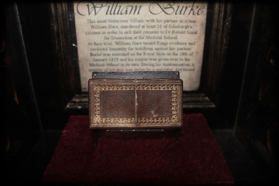 Calling- Card Case made from the skin from the the back of William Burke's left hand. Found at the William Burke Museum, Edinburgh