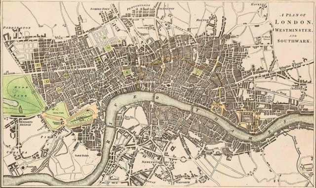 A 17th century Plan of London  and Southwark