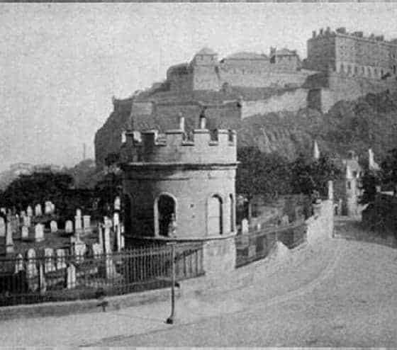 St Cuthbert's watchtower Edinburgh Source unknown
