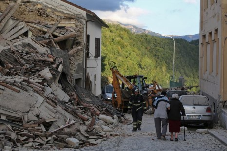 Central Italy Earthquake aftermath