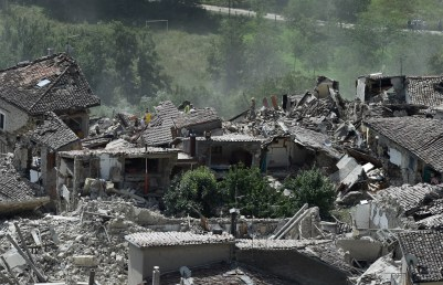Central Italy Earthquake Mass Destruction
