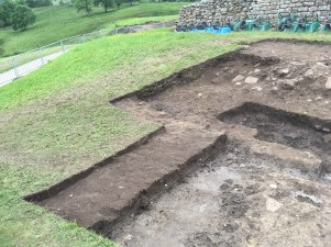 Deturfing at the southern end of the ditch