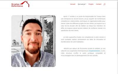 Refonte du site de Nicolas Defontaine