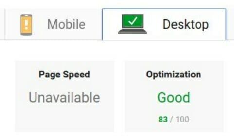 Velocità pagina - Desktop prima