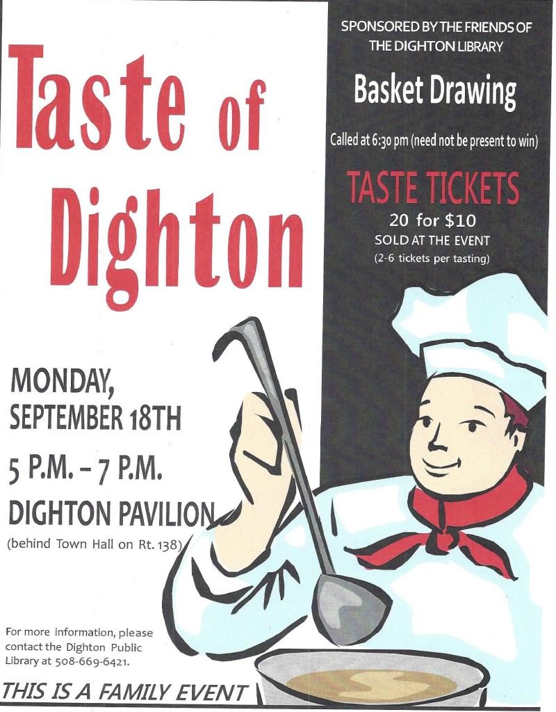 Taste of Dighton flyer