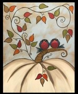 paint night love birds