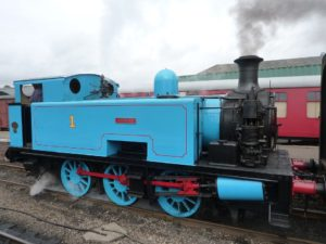 side image of Thomas the tank engine