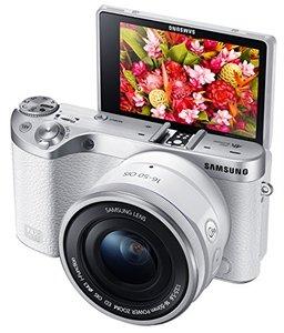 SamsungNX50028MPWirelessSmartMirrorlessDigitalCamerawith16-50mmPowerZoomLens-White-