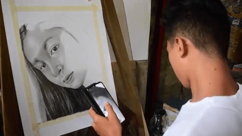 18 anyos nga portrait artist sang Sagay City nadiskubrehan ang iya talento sini nga pandemic