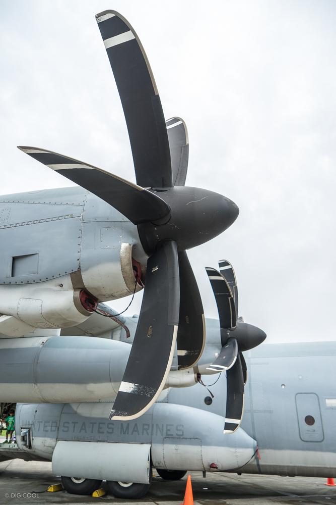 C-130のプロペラ