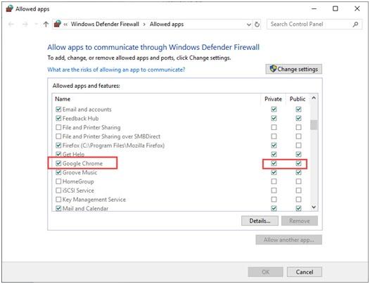 Allow_Google_Chrome_through_firewall