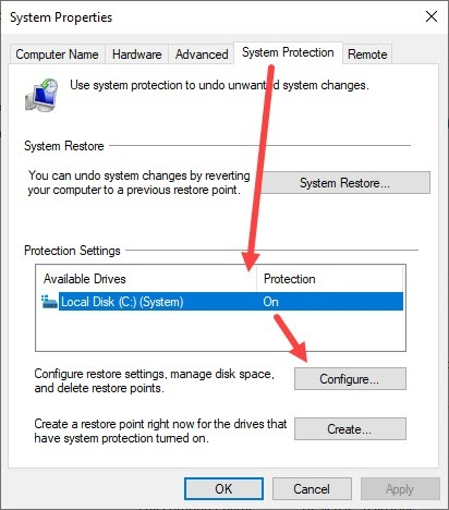 Configure_system_protection