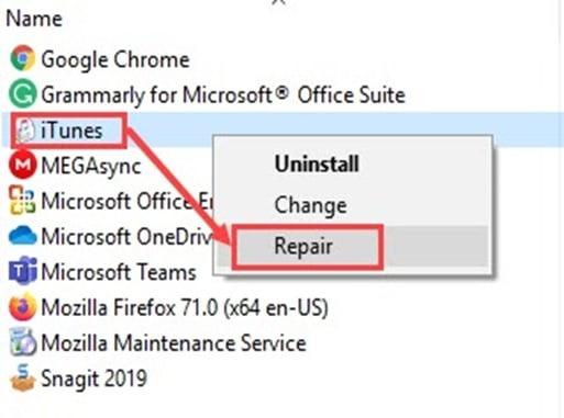Repair_iTunes