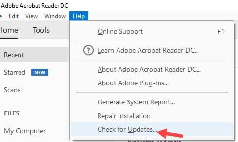 Check_for_updates_of_adobe_acrobat_reader