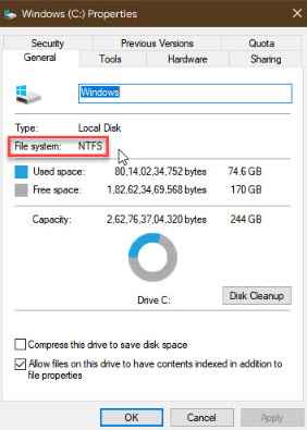 check_file_system_of_storage_device